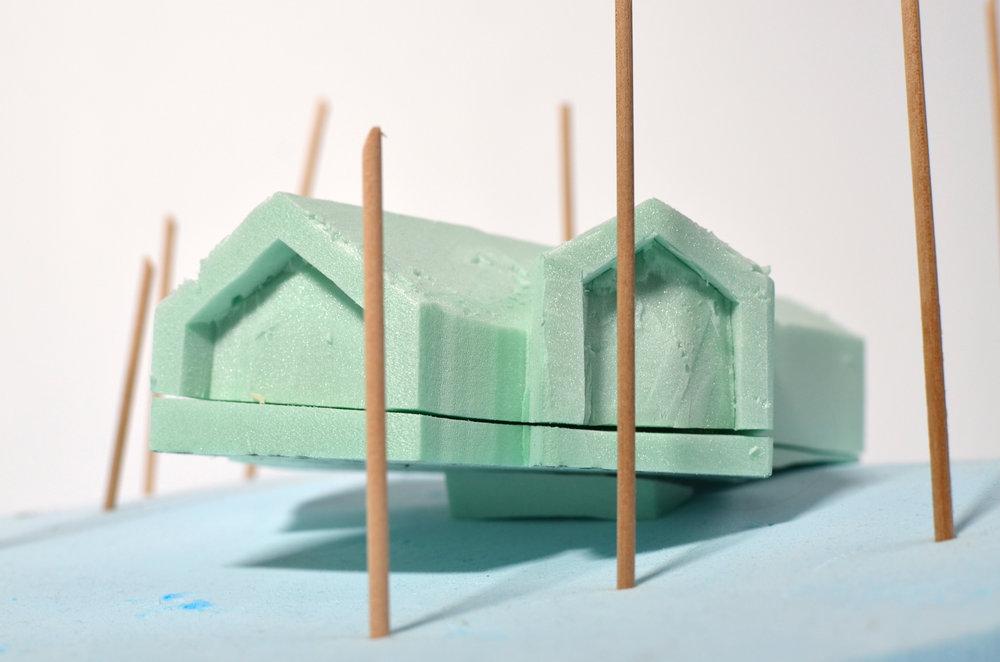 Foam massing models
