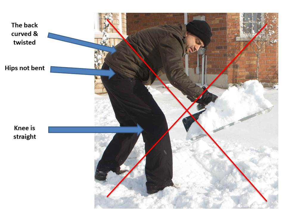 snow shoveling injuries 2 Winter Snow Shoveling Tips, Save Your Back!