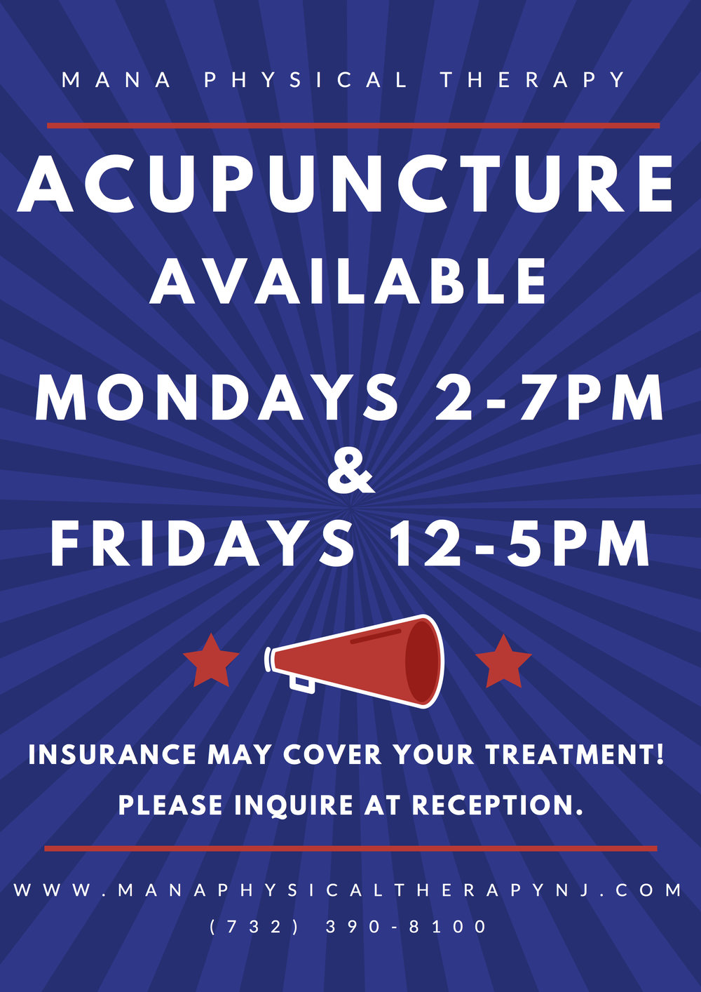 Acupuncture Treatment Hours