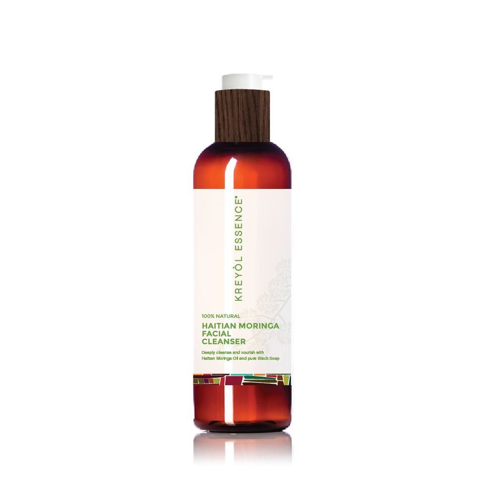 Haitian Moringa Oil Facial Cleanser 100% Natural - Deeply cleanse and nourish with Haitian Moringa Oil, Cocoa Pods & Plantains.