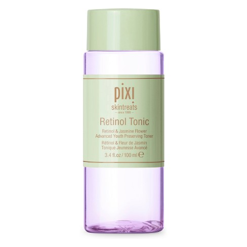 Pixi Retinol Tonic - This potent youth preserving tonic features a unique time-release Retinol to help rejuvenate the skin for a natural glow. Powerful antioxidants and botanicals replenish the skin for a smoother, softer appearance while soothing sensitive skin.
