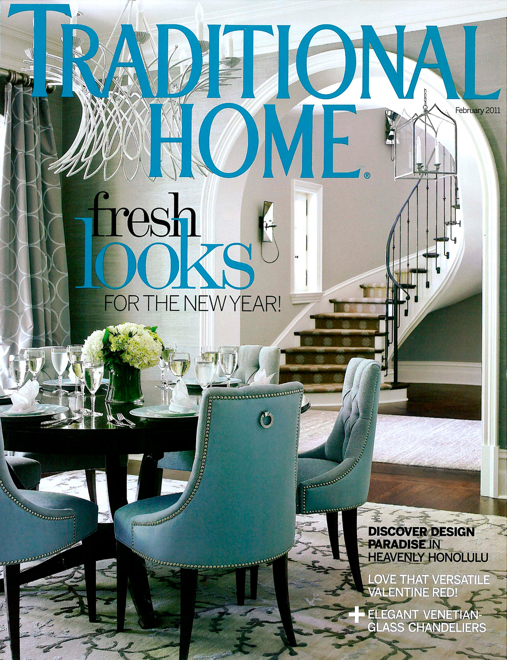 The February 2011 issue of  Traditional Home  magazine featured an Atlanta home with one of our custom hoods.