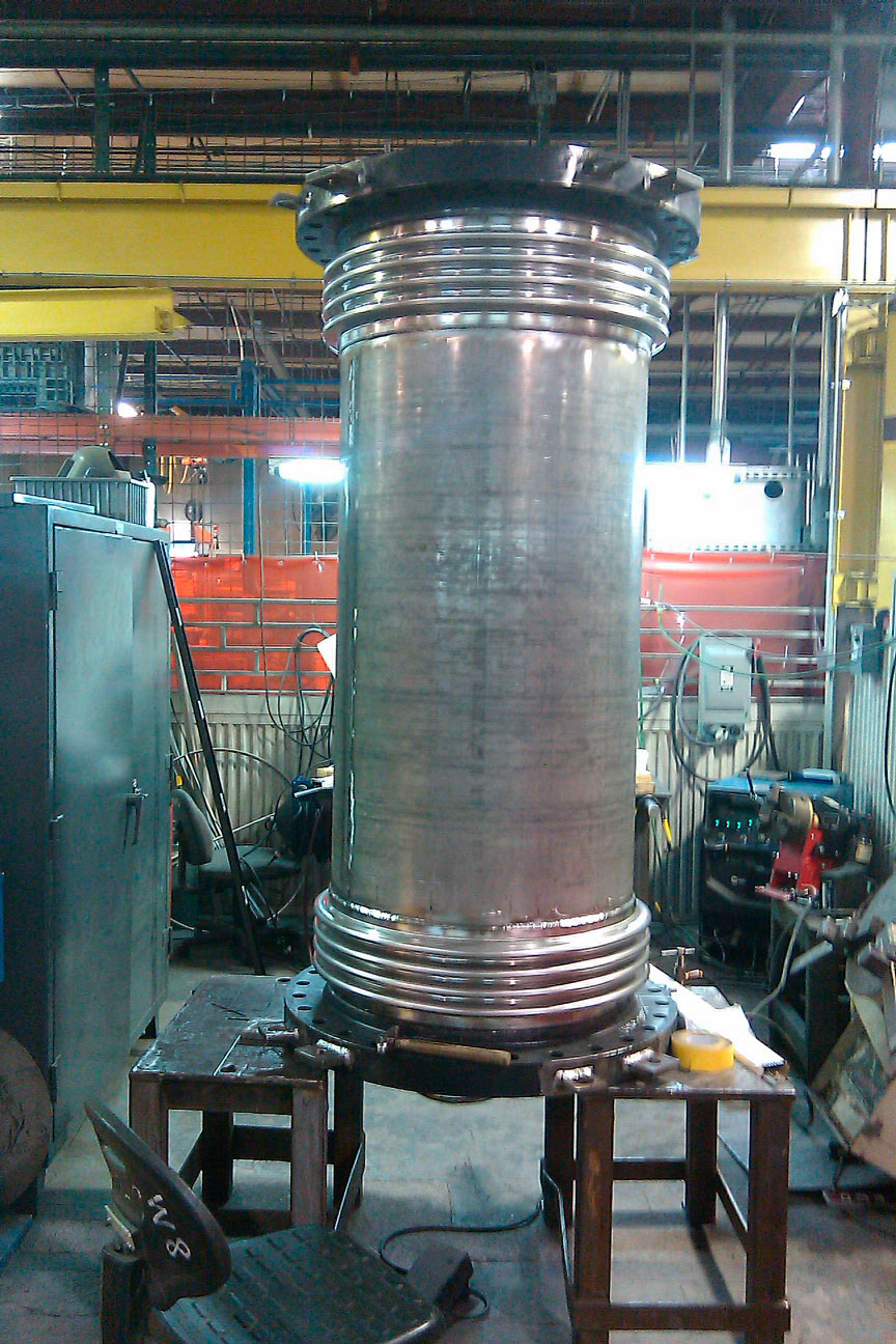 Inconel welded to 4130 for turbine in reactor American BOA