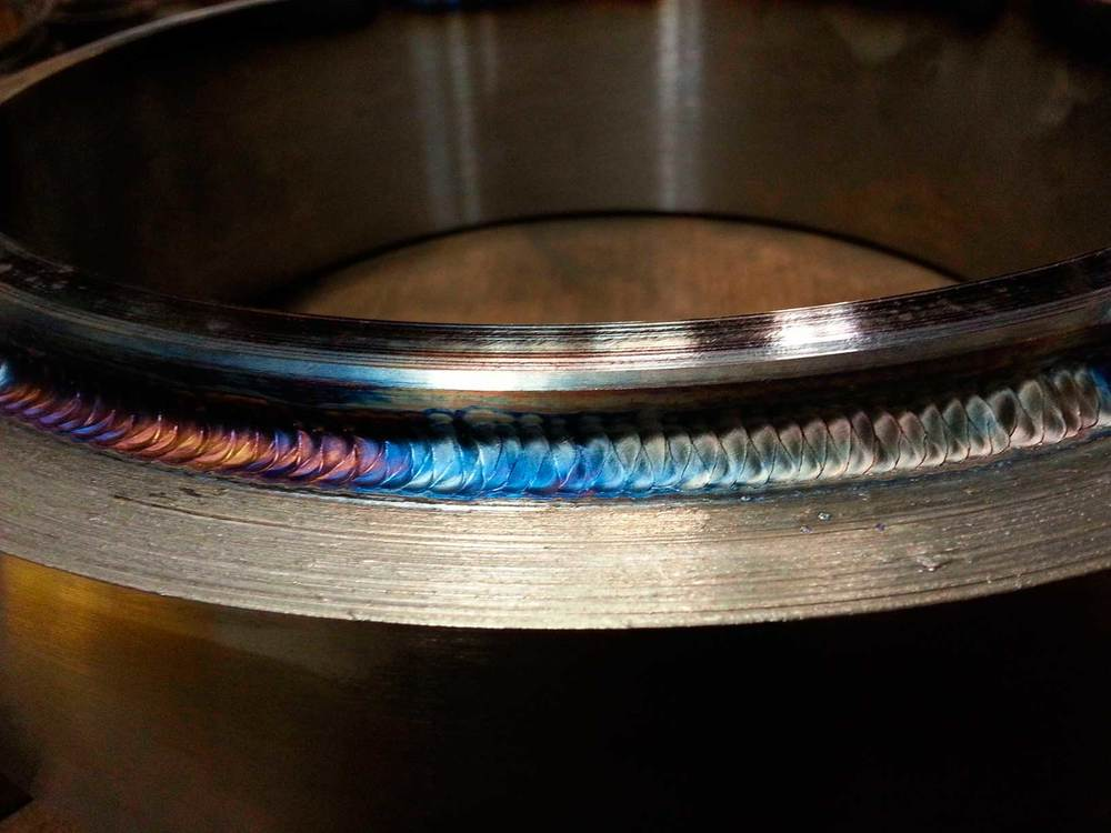 TIG weld on slewing bearing