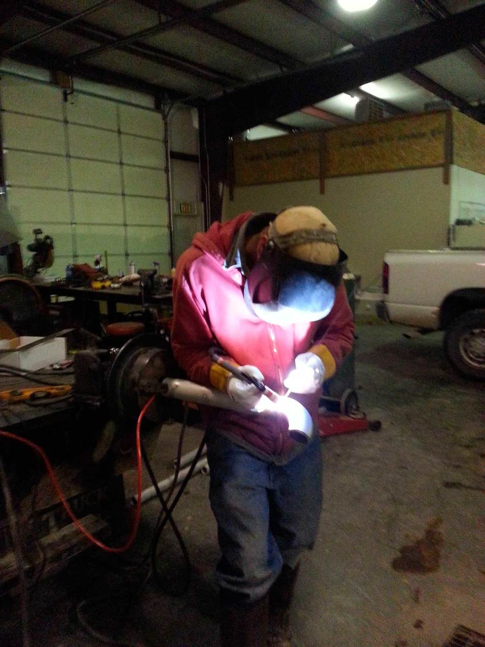 TIG welding off of rig