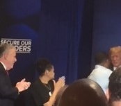 President Trump with the parents of MS-13 victims and Congressman King