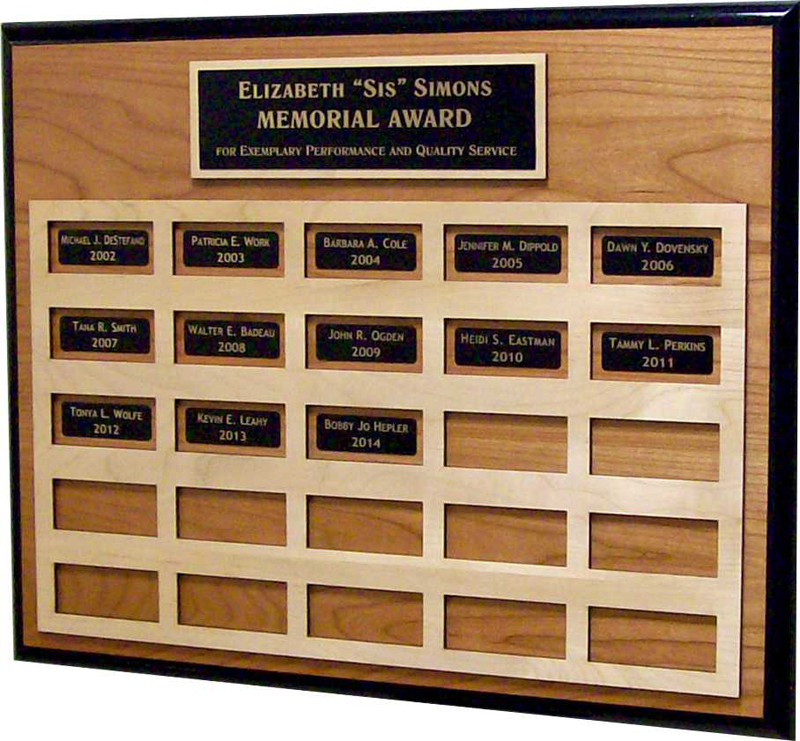 Large Perpetual Plaque