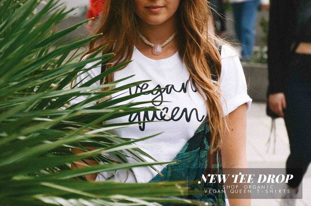Vegan Queen t-shirt from vegansofLDN // Lone Wolves Creative // organic cotton, vegan clothing