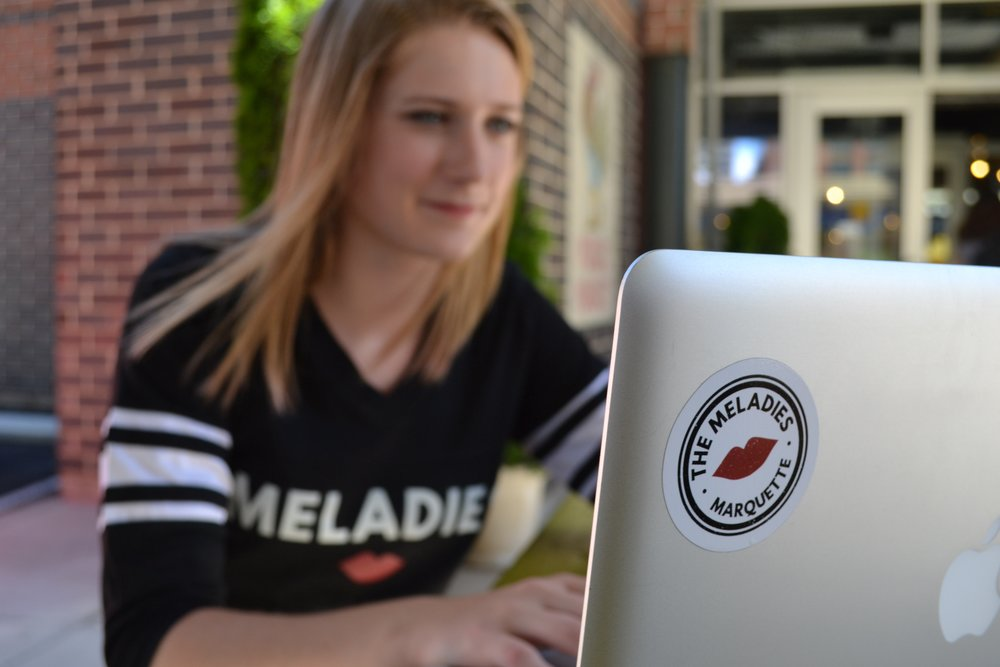 Meladies logo sticker