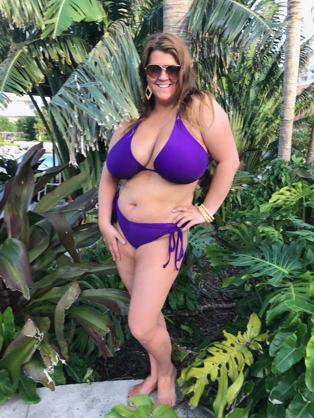 Snap up the last of our PURPLE top and bottoms here:  www.curvybeach.com/shop