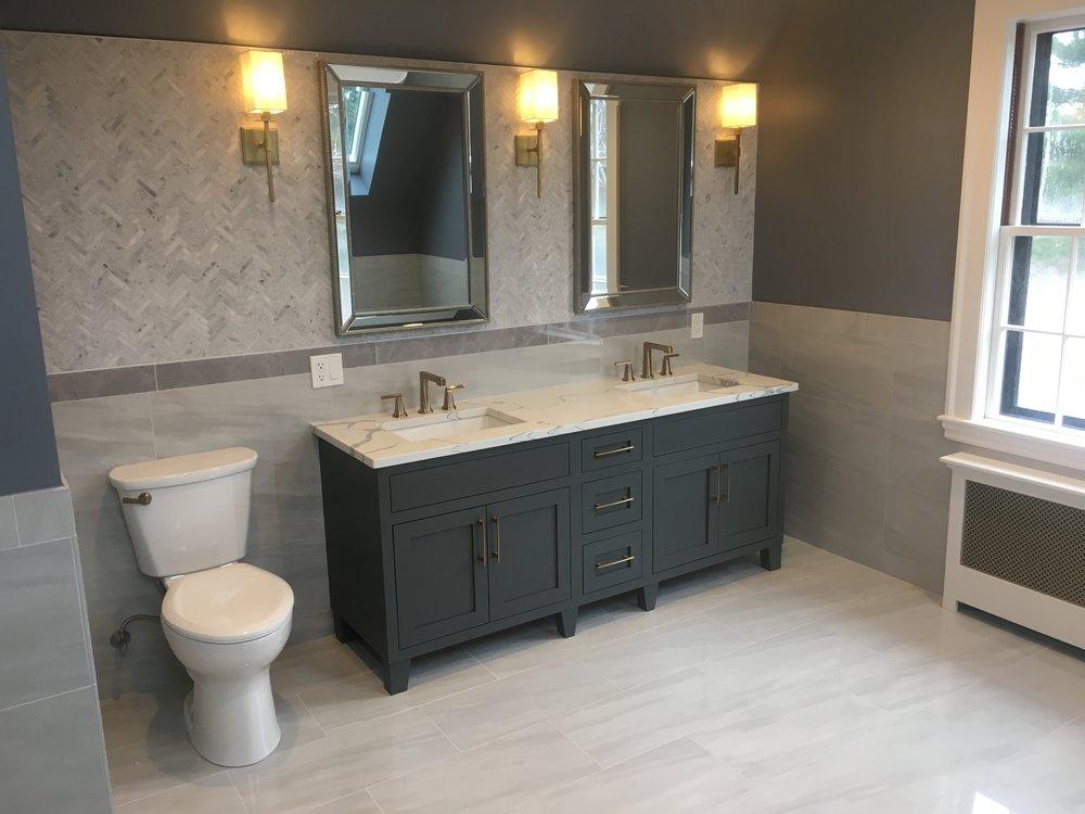 Master Bathroom Gray
