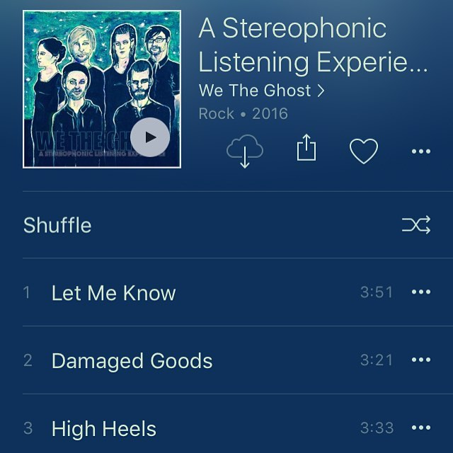 Yes! So proud of you guys 💙💙💙 @wetheghost just released their album! - take a listen, I adore these people so much, and their music is fire. 🔥 #wetheghost