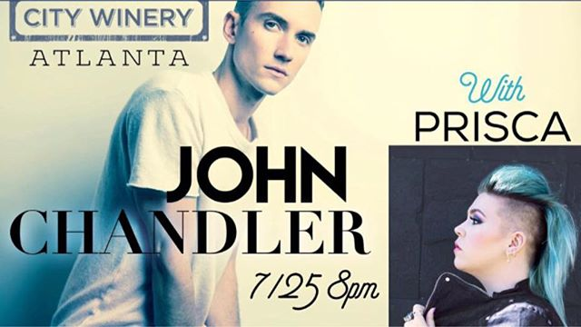 Tonight I'll be sharing some songs early at the city winery at Ponce City Market with John Chandler - doors at 7 show at 8