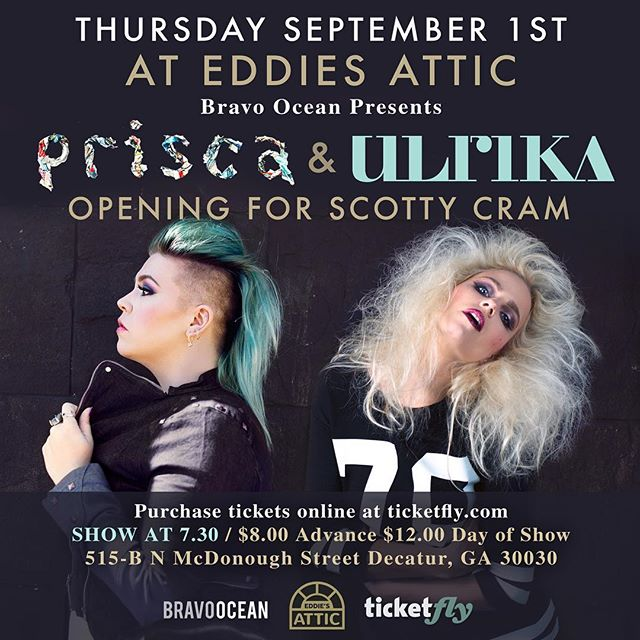 What you are doing next Thursday ;) opening for Scotty Cram with Ulrika - this will be a fun one! Just Pris and her Piano ❤️🎹 #eddiesattic @eddiesattic @ulrikamusic @scottycrammuzic