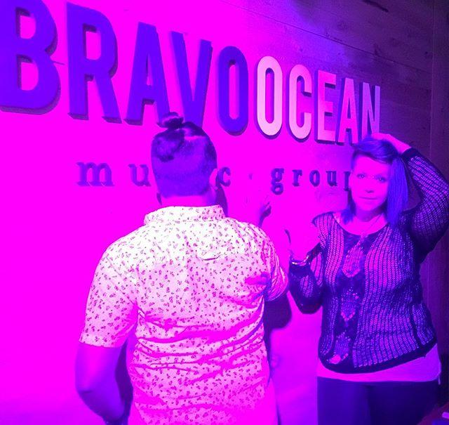Pink liiiiiiights @bravoocean tonight was fun! ( cool pose @sidd_kel )