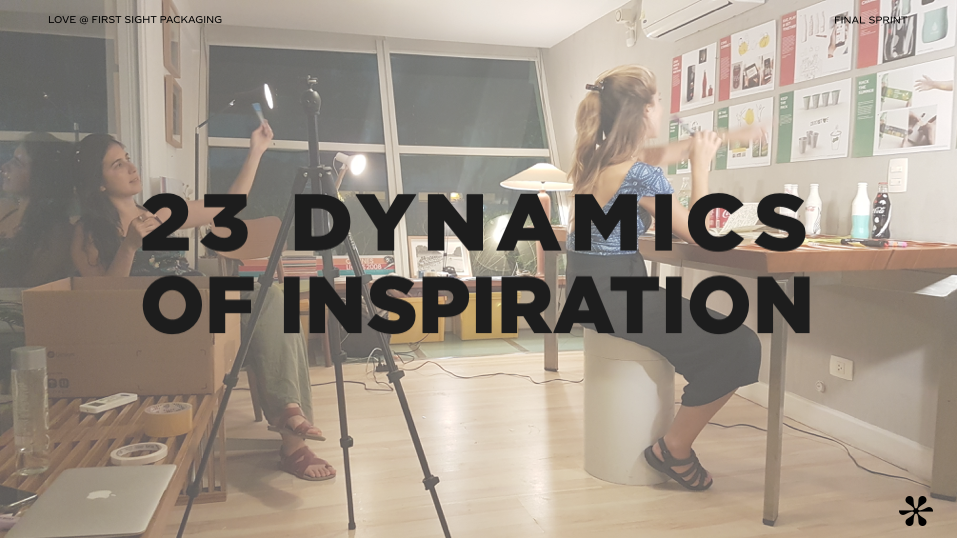 Realizamos muitas dinâmicas de inspiração para geração de ideias inovadoras. O objetivo era gera o máximo possível de insights para novas experiências de embalagens para a Coca-Cola.