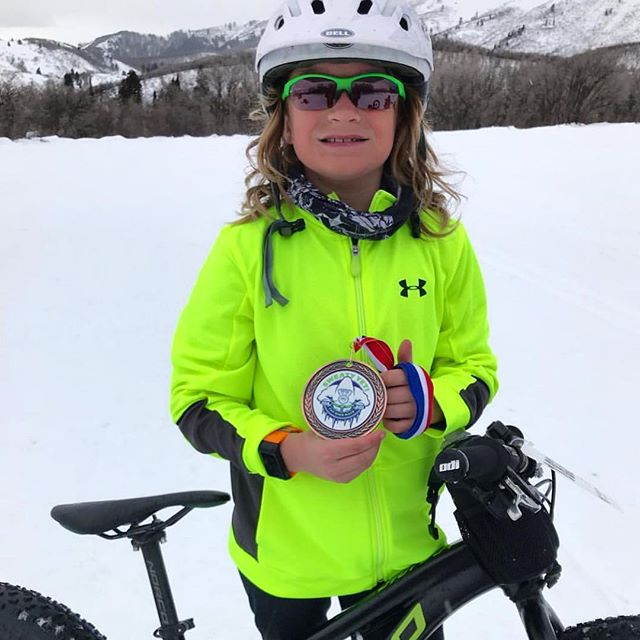 It's never too early (or late!) to start racing. If you're ever looking for community bike events, head to the calendar on our website! We love this photo of Grady looking so proud at his first fat bike race (second place!). Go Grady!