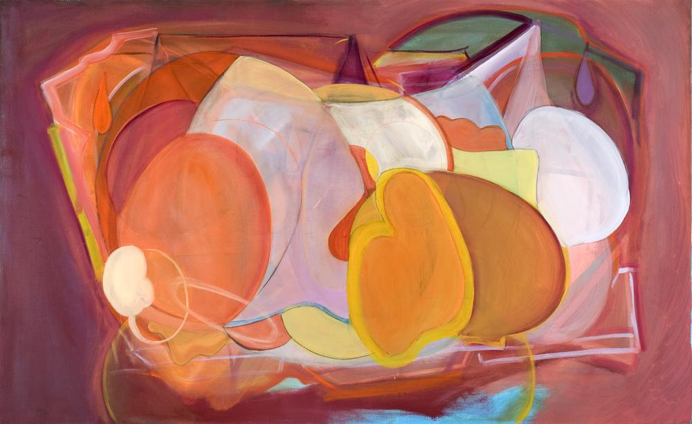 "Solitude ,  oil on panel, 2014, 58.75"" x 41.37"""