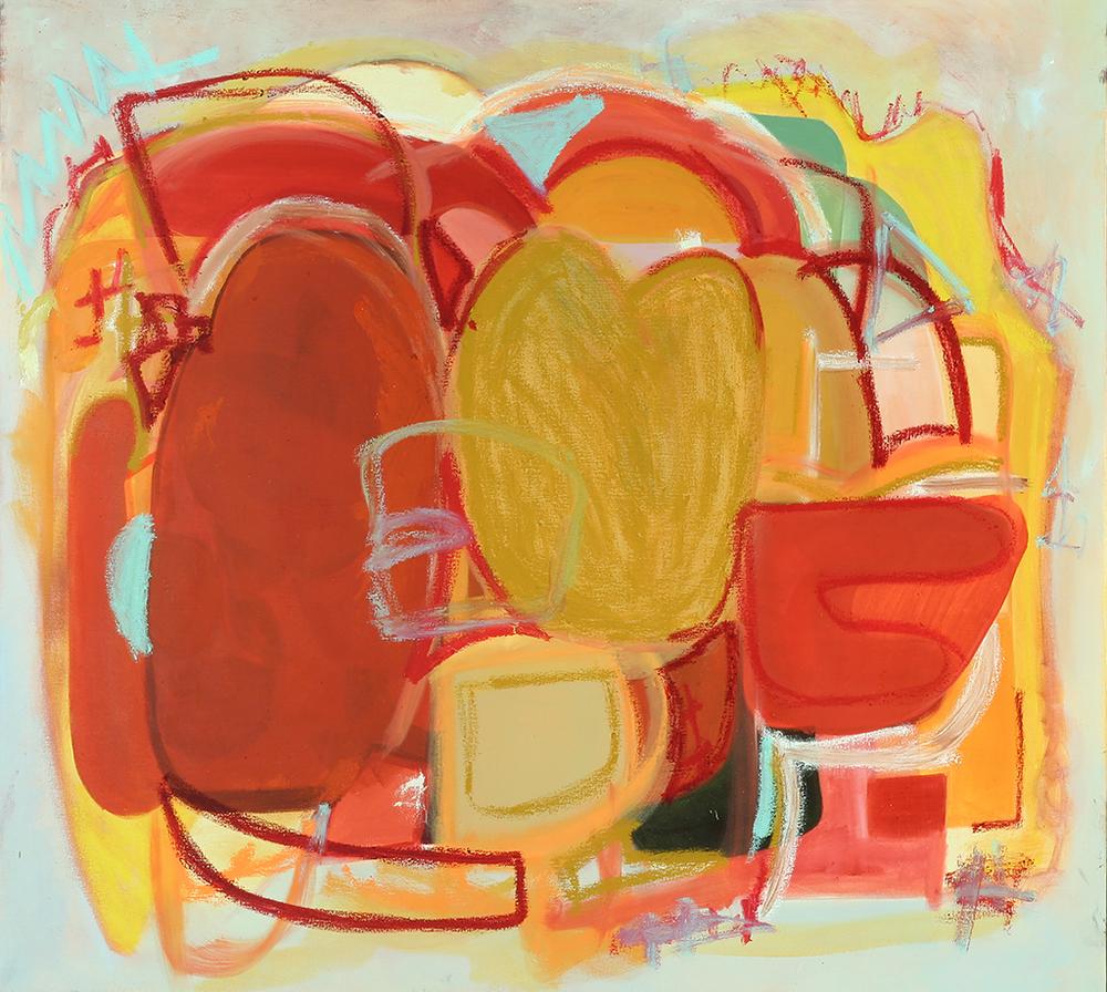 "Radio City ,  oil on canvas, 2015 46.37"" x 32.12"""