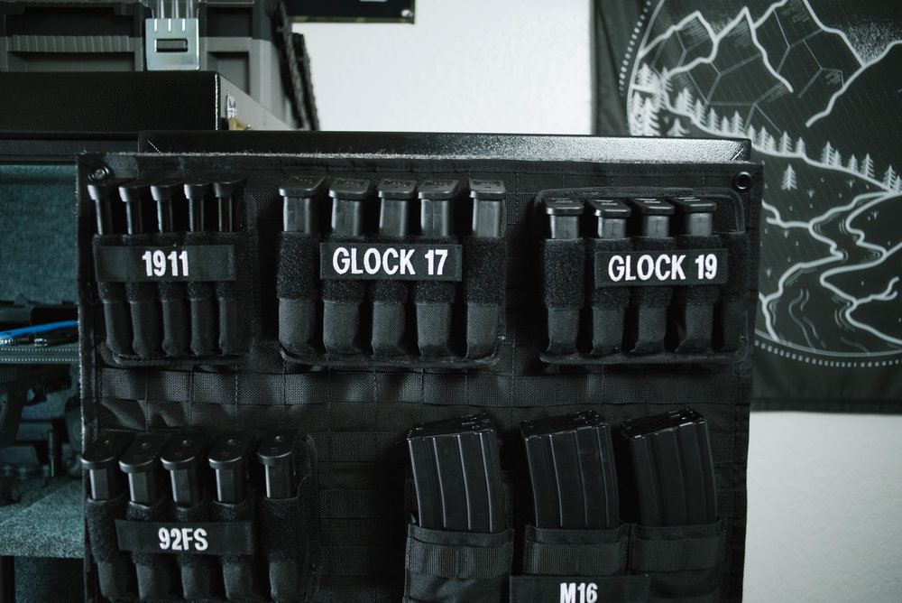 ... M16 And M5 (AR 15 And AR 10) Pouches Are Made By Condor. I Bought Mine  From Tactical Gear. Not Great Quality, But They Will Never Be Leaving This  Door ...