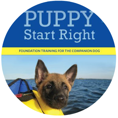 Puppy Start Right book for course, dog trainers, new puppy owner