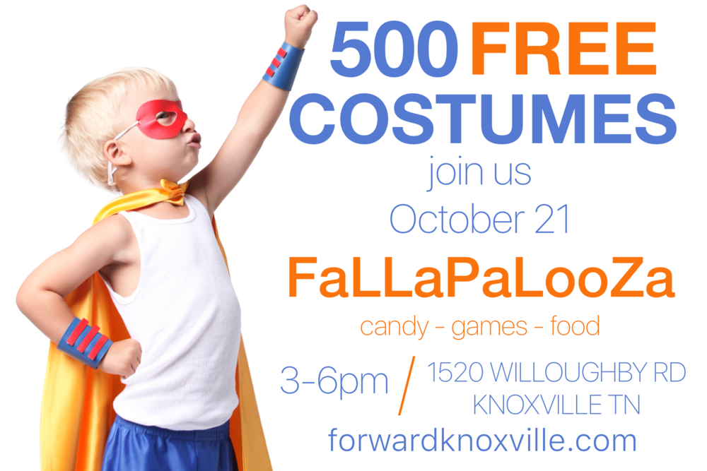 500 FREE Halloween Costumes given away to children in need Oct 2018.