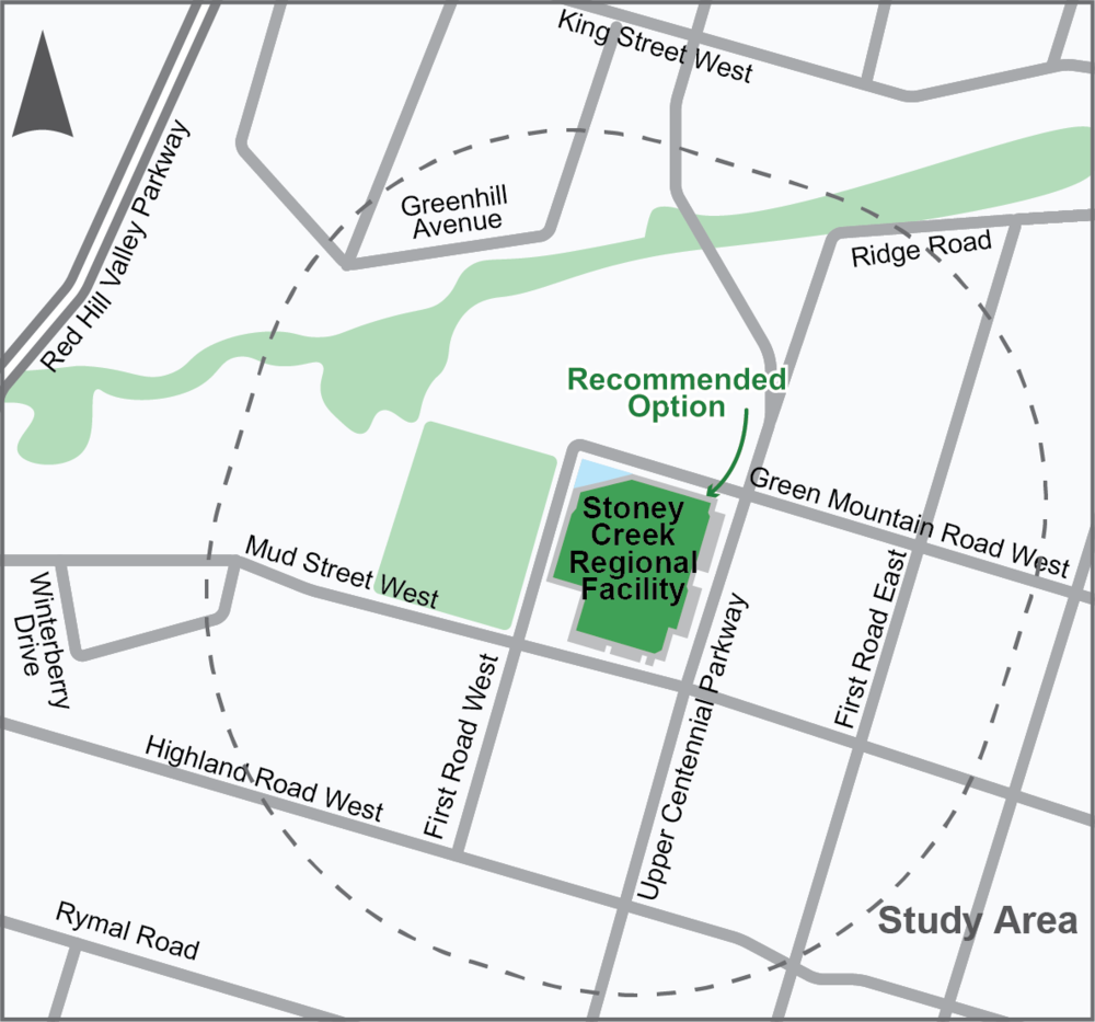 Location of the SToney Creek Regional Facility