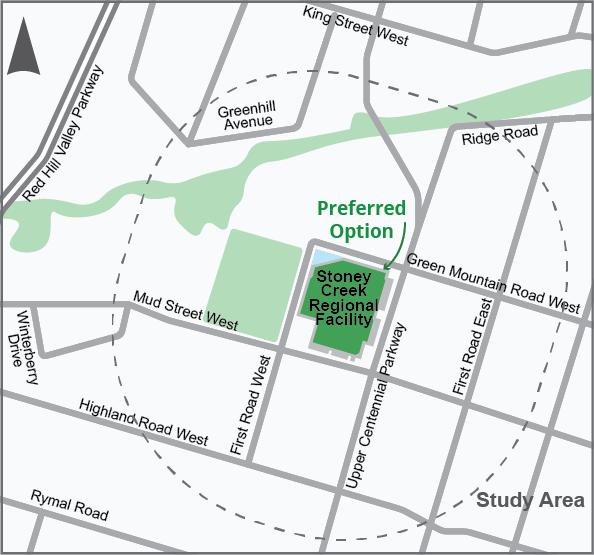 Location of the SToney Creek Regional Facility