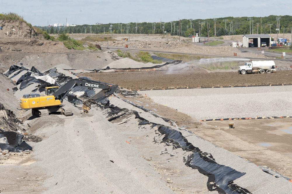 landfill liner construction