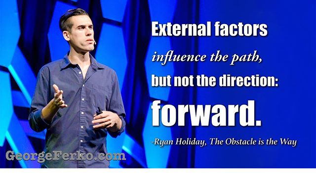 One of my favorite quotes from @ryanholiday #forward #drive #focus #determination
