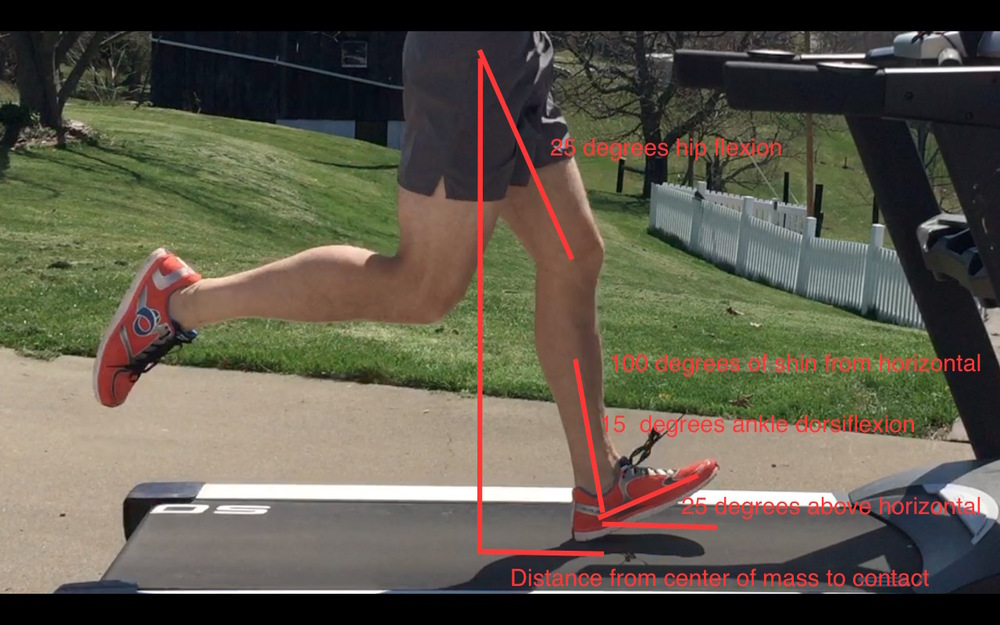 Initial contact with heel strike pattern