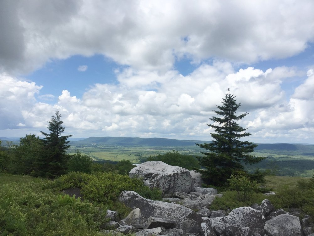 overlooking the canaan valley from Rocky Ridge before descending