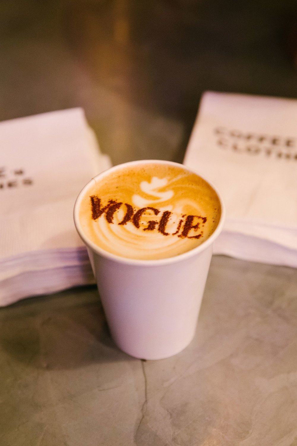 At a Vogue event even the morning coffee (which I don't drink, but do snap pictures of) are chic.