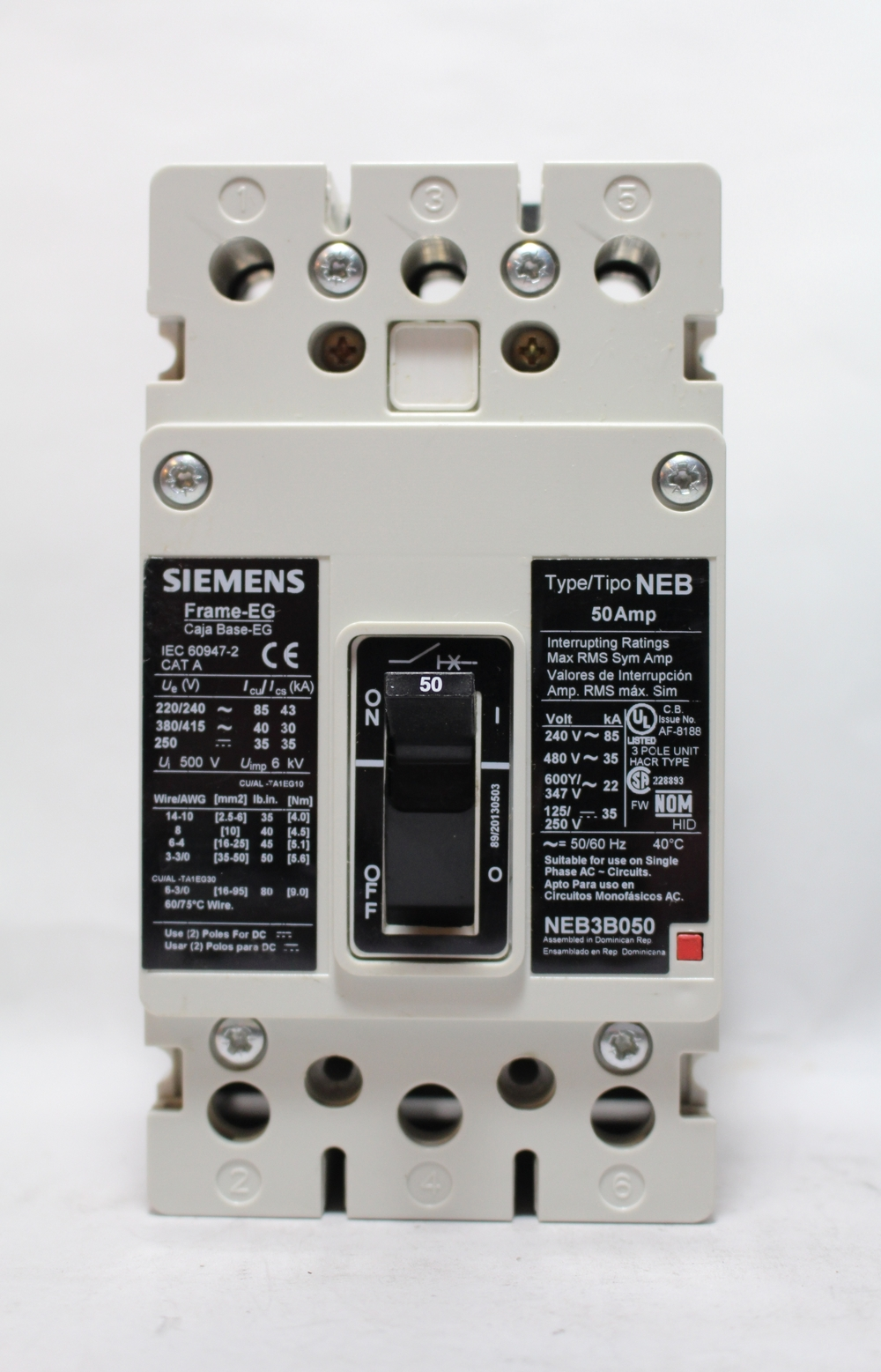 Electrical Surplus Distribution Llc Have A E Mail Us At Info 250 Volt 50 Amp Ac Wiring Neb3b050