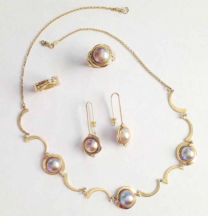 Necklace, Earrings, Rings