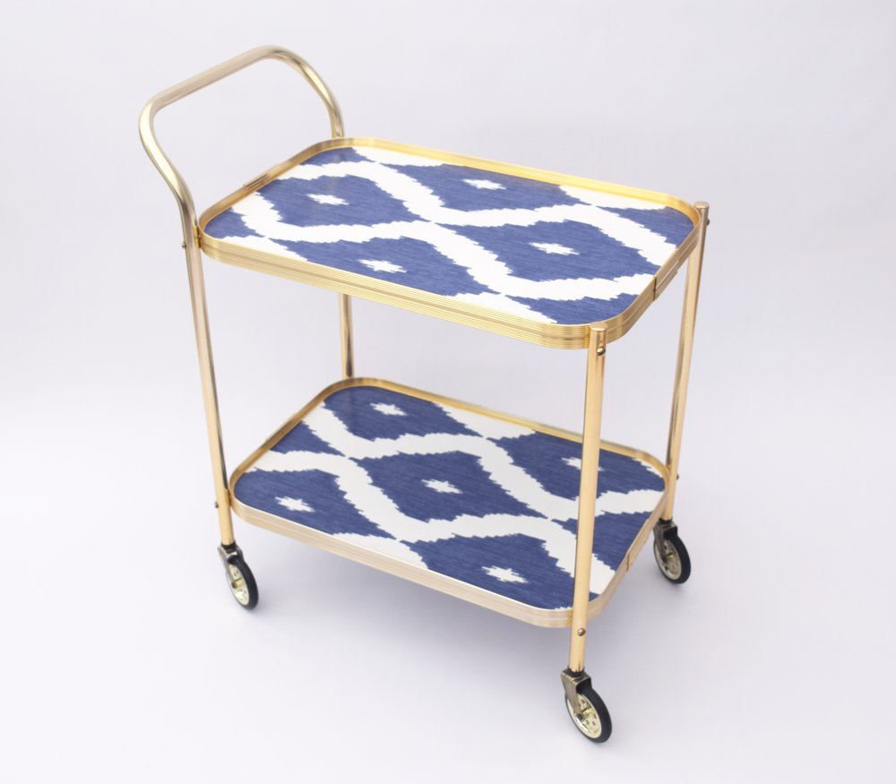 IKAT DESIGN DRINKS TROLLEY