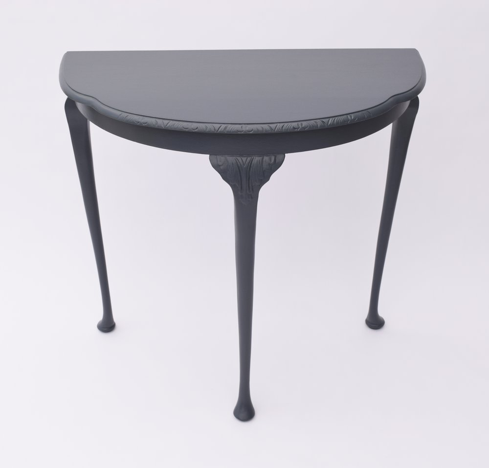 VINTAGE DEMI-LUNE TABLE