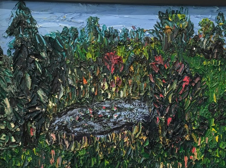 Chillidog Pond - oil on canvas 18