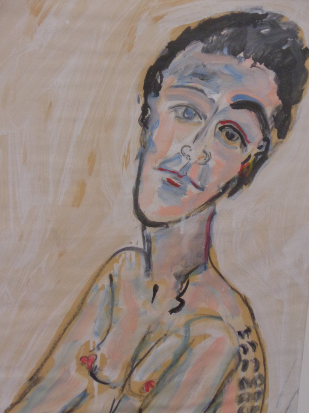 Siobhan with Tattoo - oil on paper 2012 37