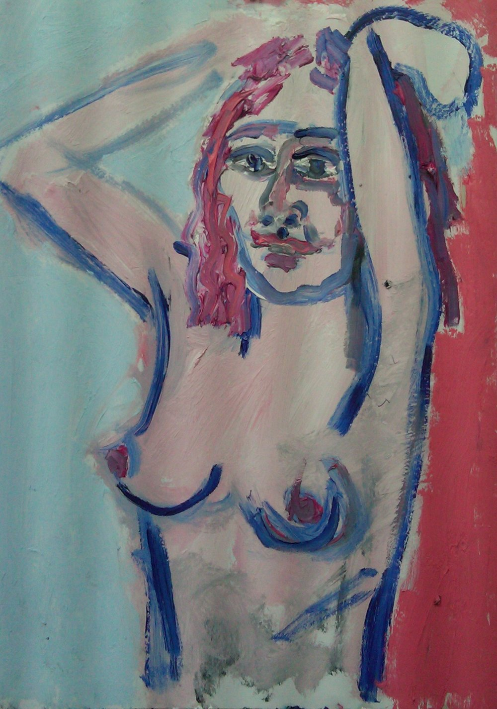 Samantha Dancing - Oil/charcoal on paper 24