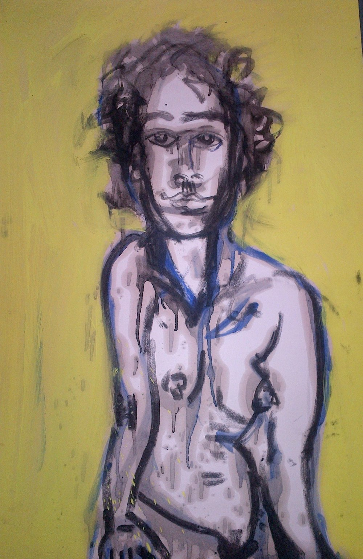 Irina - Oil/charcoal on paper 36