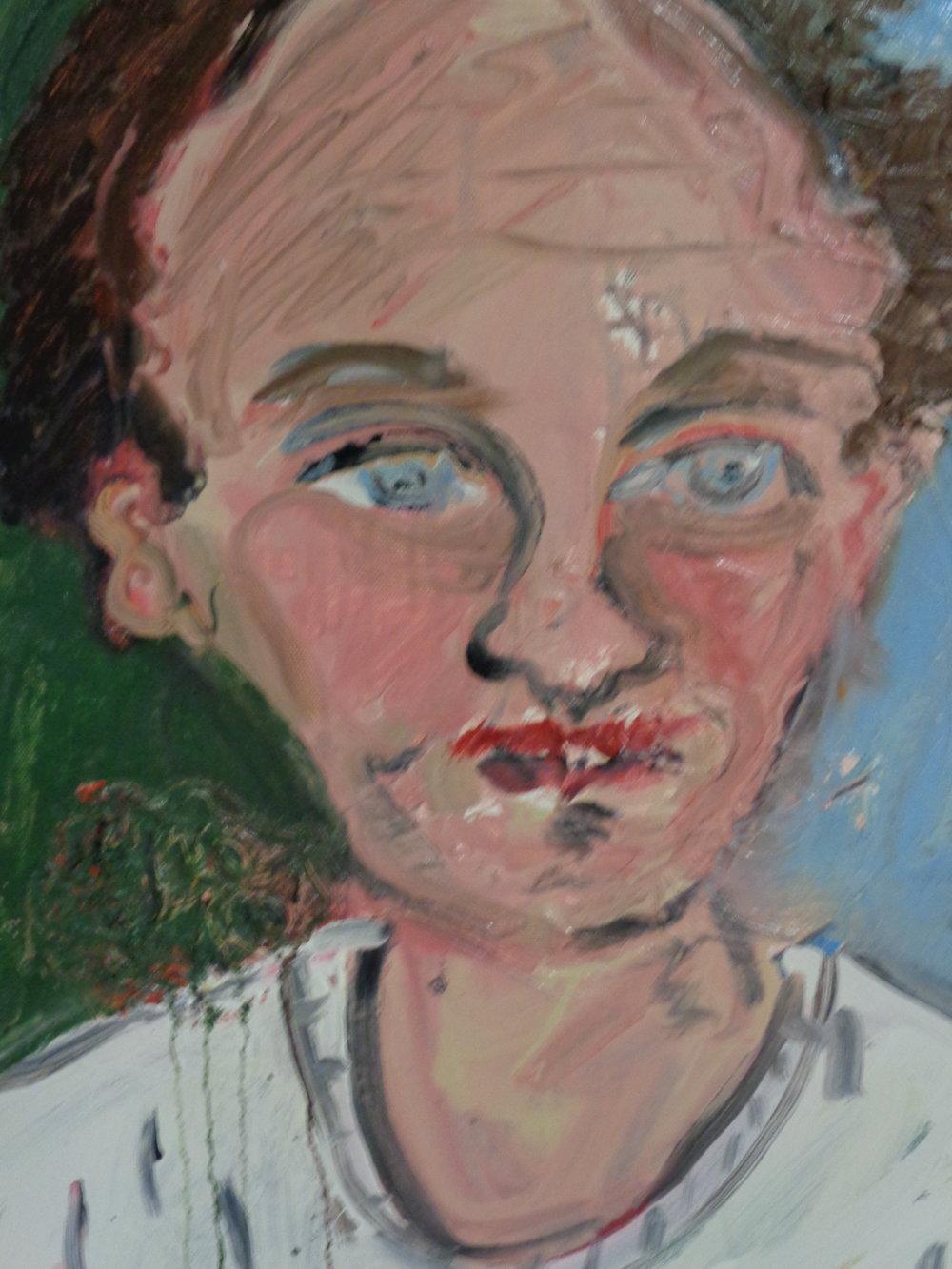 Self portrait - oil on canvas 2016