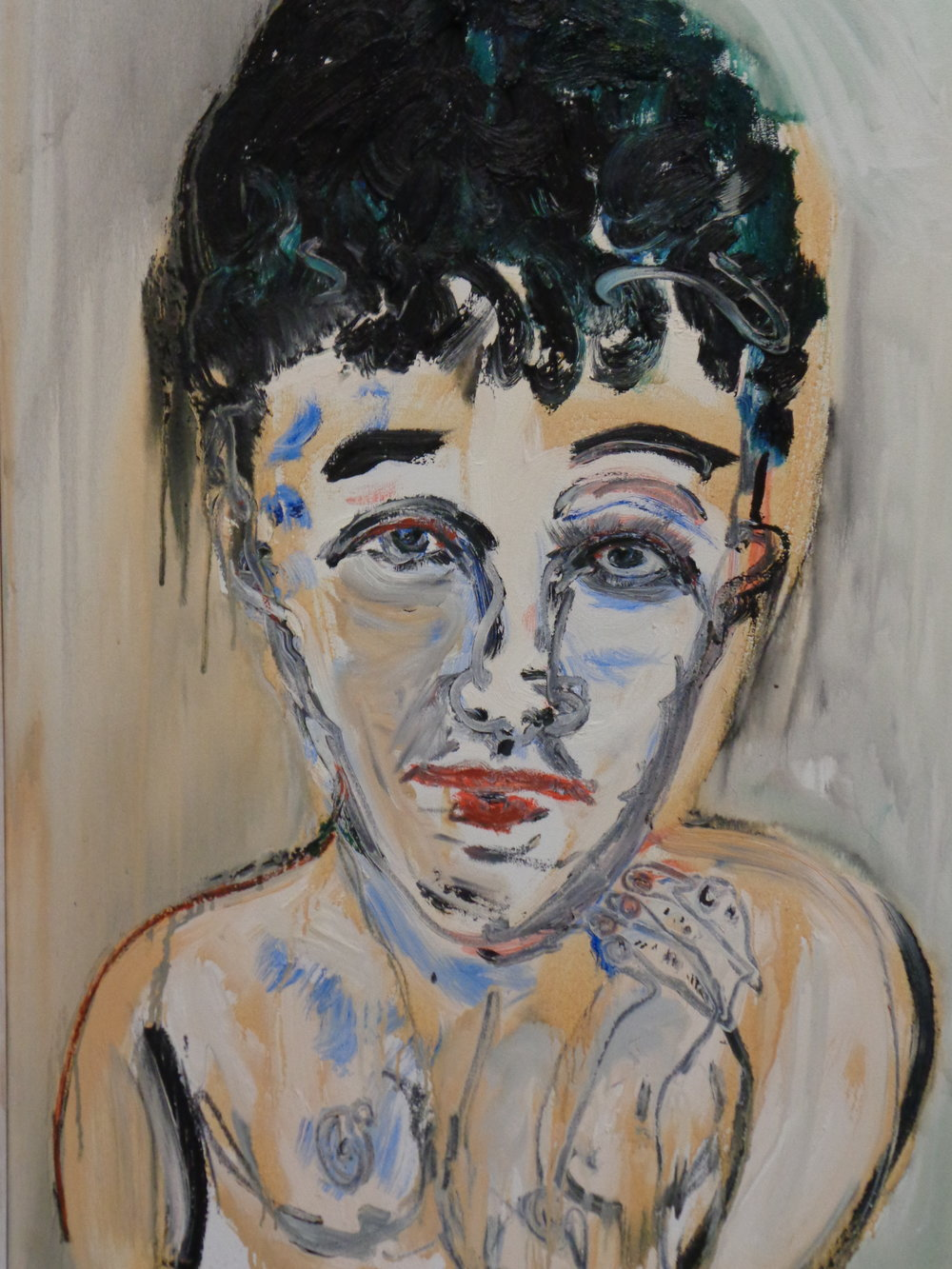 Siobhan Gazing - oil on canvas 2016