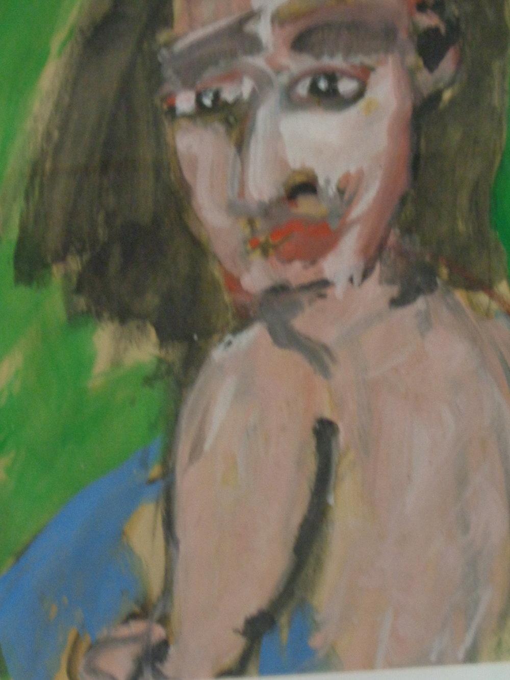 Dorothy Gazing - oil on paper 2016 28