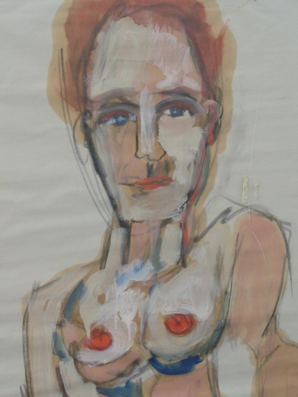 Siobhan Smiling - oil and charcoal on paper 2013 37