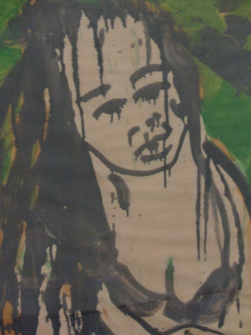 Sunoko with Black Bra - Oil on paper 2013