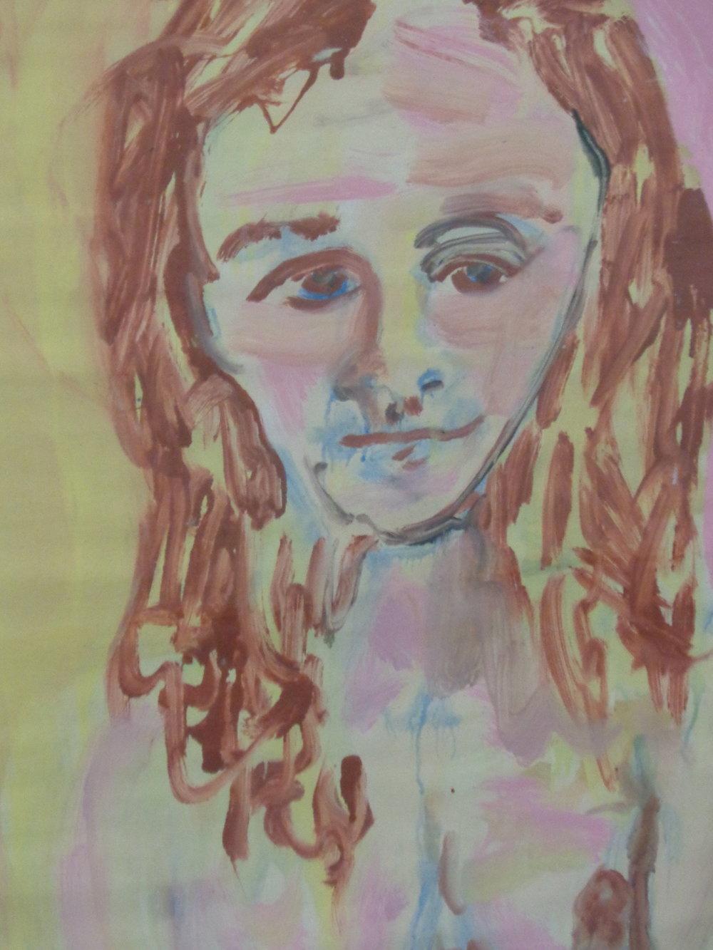 Dorothy Belmonte Dreaming - Oil on paper 2011