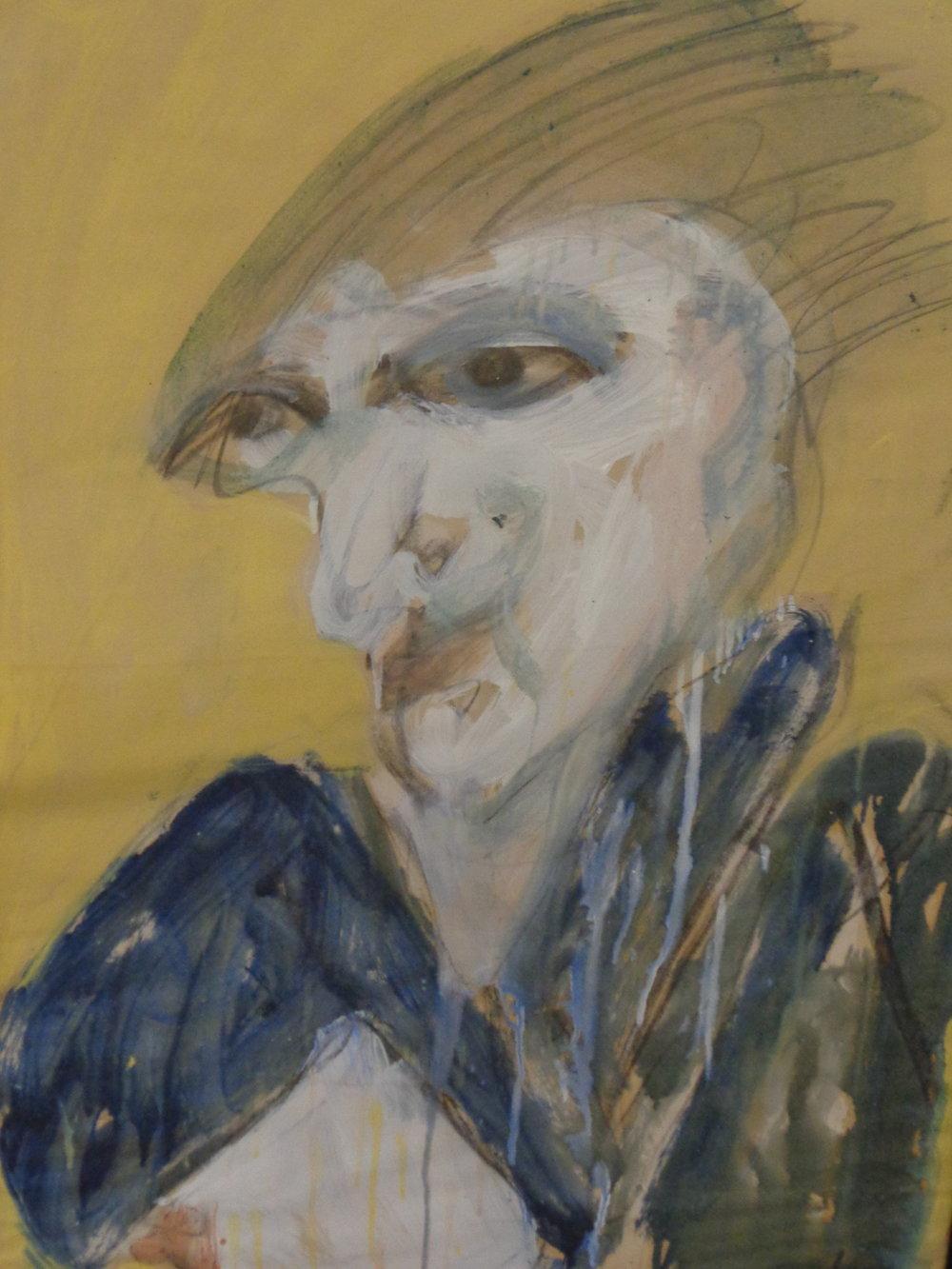 Siobahn Dreaming - Oil on paper 2013