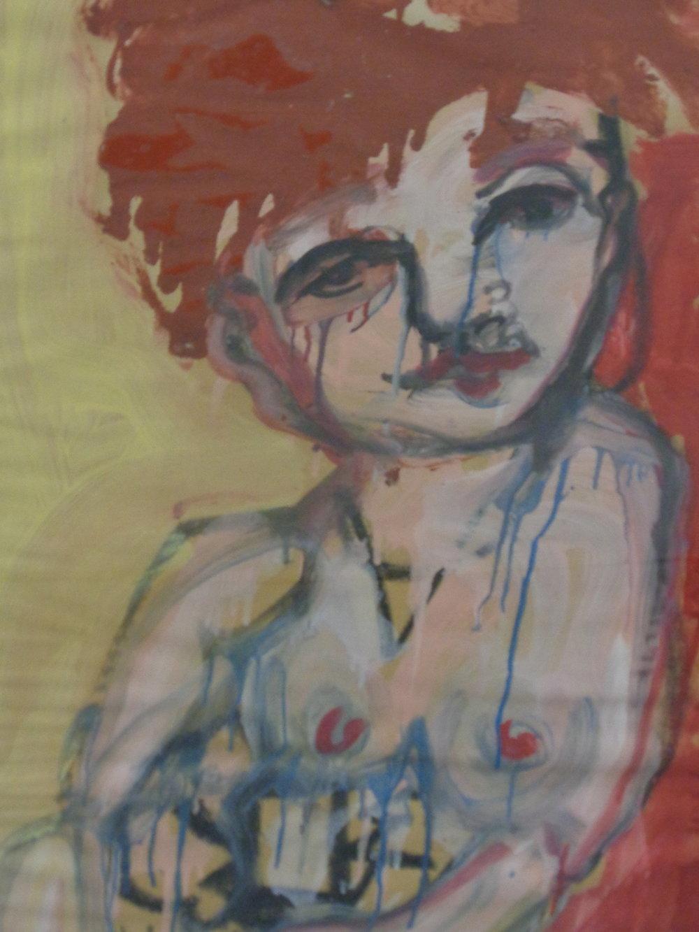 Siobahn Posing - Oil on paper 2013