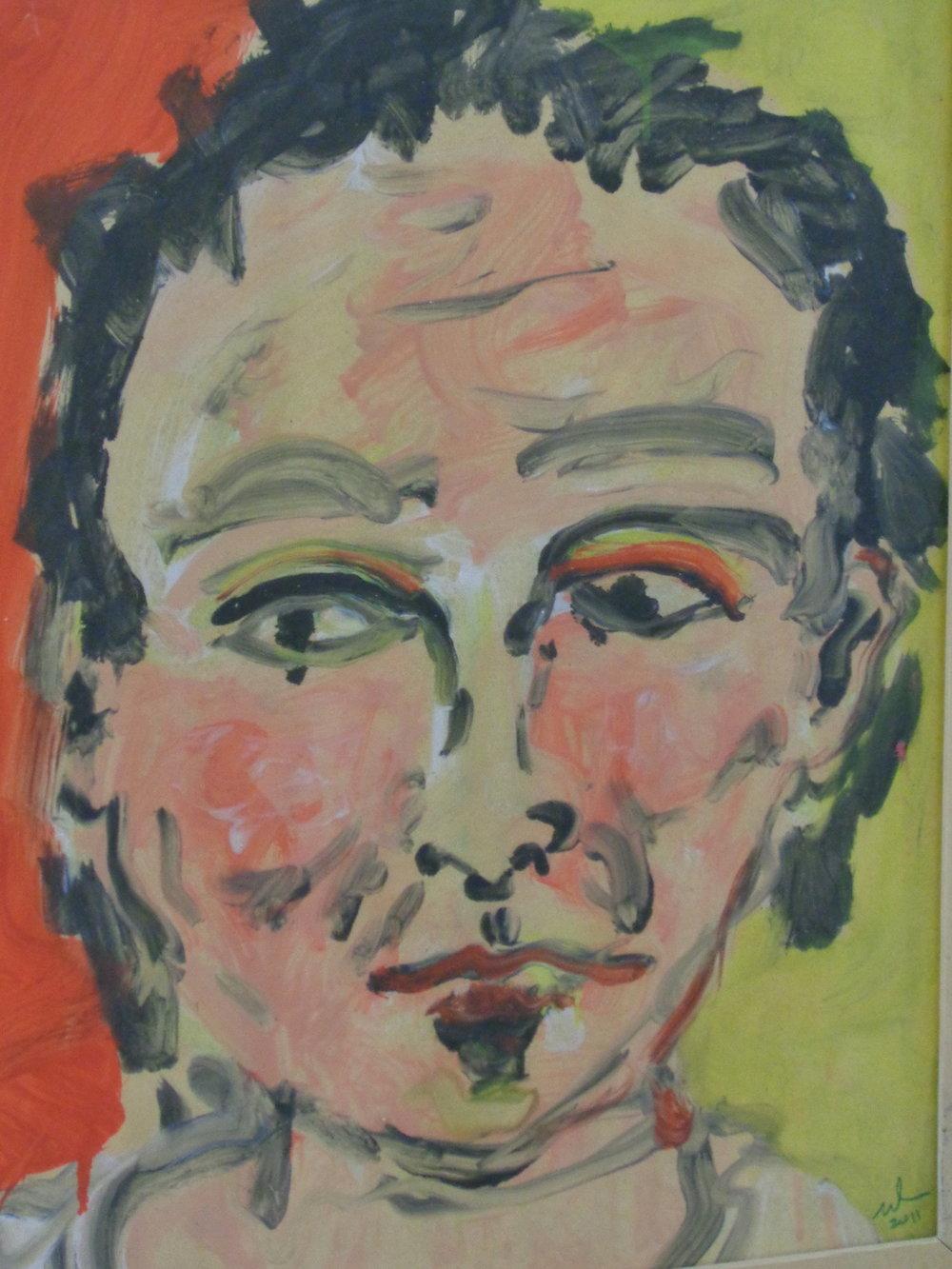 Self Portrait - Oil on paper 2010